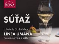 Súťaž o darčekové balenie 6 kusov pohárov na sekt a šumivé vína