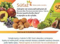 Súťaž o kupóny v hodnote 50€ na nákup ovocných stromov a drobného ovocia