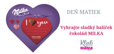 Vyhrajte balík čokolád Milka v hodnote 20 EUR