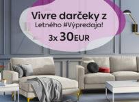 Súťaž o 3x 30€ na nákup na Vivrehome.sk