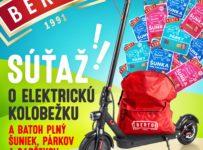 Súťaž o elektrokolobežku Zamelux E9X s detskými bezéčkovými výrobkami