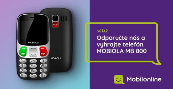 Súťaž o telefón Mobiola MB800