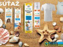 Vyhrajte produkty z opaľovacej rady, tričko a top PLUS Lekáreň