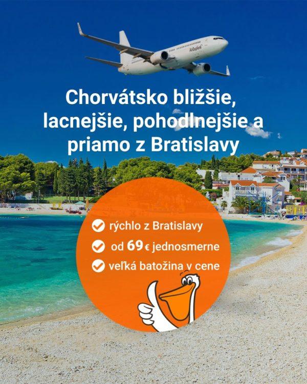 Chorvátsko bližšie, lacnejšie, pohodlnejšie a priamo z Bratislavy