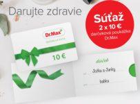 Súťaž o 2x 10 € darčekovú kartu Dr.Max
