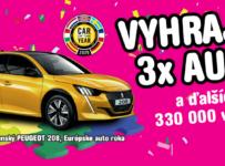 Vyhraj 3x auto a ďalších 330-tisíc výhier