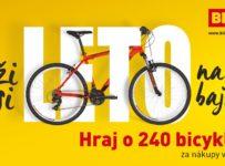 Nakúp v Bille za 20€ a vyhraj jeden z 240 bicyklov