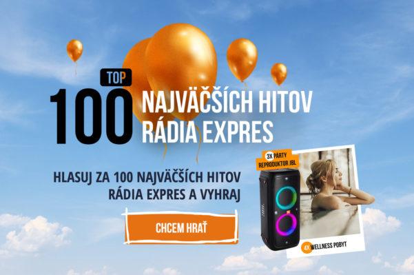 Vyber s nami TOP 100 najväčších hitov Rádia Expres a vyhraj!