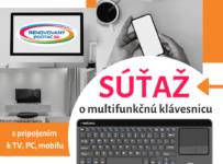Súťaž o bezdrôtovú multifunkčnú klávesnicu