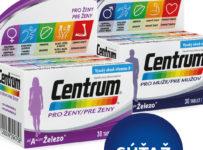 Súťaž o kombináciu produktov Centrum od A až po Železo