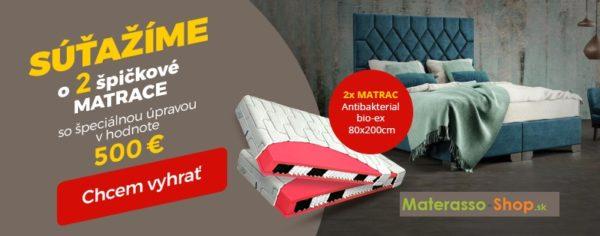 Súťaž o 2 matrace v hodnote 500€