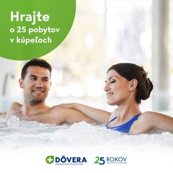 Súťaž o 25 pobytov v kúpeľoch