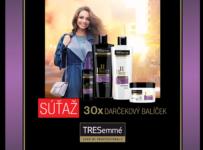 Súťaž o 30x darčekový balíček prémiovej vlasovej kozmetiky od TRESemmé