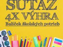 Súťaž o 4x balíček školských potrieb