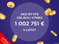 Súťaž o 5x bonus 5€ na hranie lotériových hier