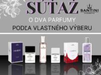 Súťaž o dva parfumy podľa vlastného výberu
