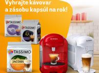 Súťaž o 3 kávovary Tassimo s kapsulami na rok