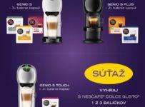 Súťaž o kávovary Dolce Gusto Genio S a balenia kapsúl