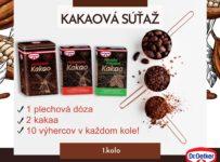 Súťaž o plechovú dózu na kakao Dr. Oetker spolu s 2 kakaami