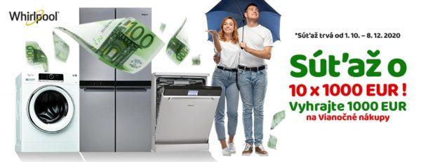Vyhrajte 1000 EUR na Vianočné nákupy