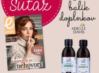 Súťaž o 3 balíčky doplnkov výživy C a D od spoločnosti Adelle Davise