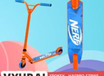 Súťaž o SPOKEY Kolobežku NERF, oranžovo-modrú