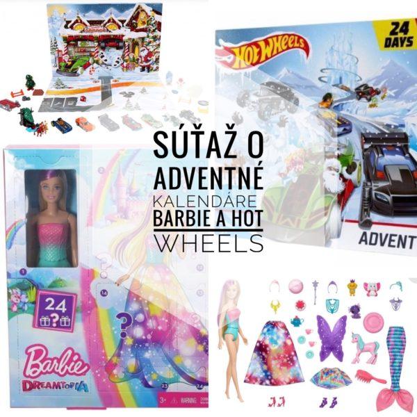 Súťaž o adventné kalendáre Barbie a Hot Wheels