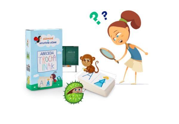 Súťaž o edukačné kartičky abeceda TROCHA INAK