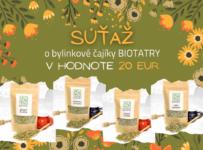 Súťaž o sadu čajíkov BIOTATRY v hodnote 20 €