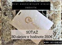 Súťaž o exkluzívnu sadu 80tich olejov Inevita v hodnote 350 Eur