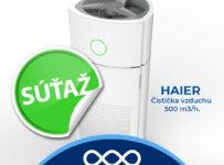 Súťaž o hi-tech čističku vzduchu značky HAIER