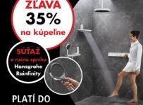 Súťaž o sprchovú hlavicu Hansgrohe Rainfinity 130 3jet v hodnote 100€