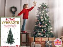 Súťaž o vianočný stromček so šiškami 220 cm