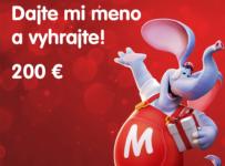 Súťaž o voucher na nákup v hodnote 200 Eur na MALL.SK