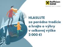 Súťaž Parádne tradície o výhry v celkovej výške až 2000€