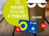 Súťaž o SCORE tankovacie karty v hodnote 20€
