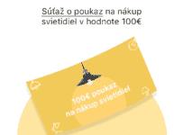 Súťaž o poukaz na nákup svietidiel v hodnote 100€