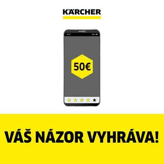 Vyhrajte darčekový poukaz Kärcher v hodnote 50€