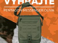 Súťaž o kapsu Pentagon MESSENGER v olivovo-zelenej farbe