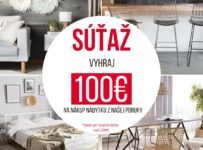 Súťaž o poukážky v hodnote 100 EUR na nákup v eshope novynabytok.sk