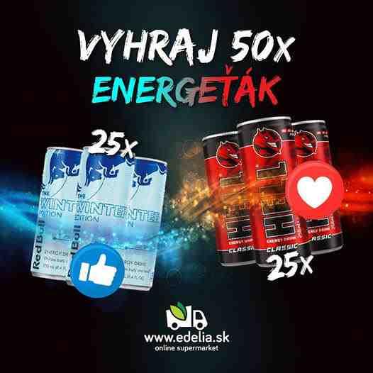 Vyhraj 50x energeťák