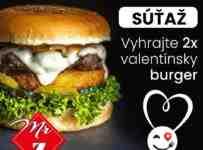 Vyhrajte 2x Valentínsky burger