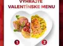 Vyhrajte donášku trojchodového Valentínskeho menu