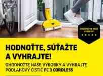 Vyhrajte batériový čistič podláh Kärcher FC 3 Cordless