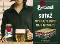 Súťaž o 3 kartóny piva Pilsner Urquell