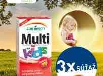 Súťaž o Multivitamín s obsahom 17 výživných látok pre deti od značky JAMIESON