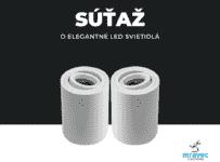 Súťaž o dva kusy hliníkového LED svietidla