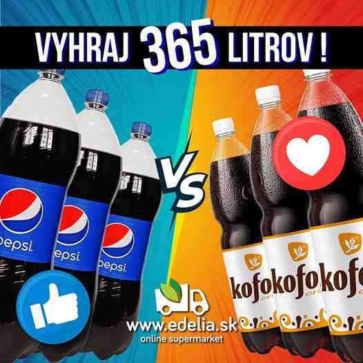 Vyhraj 365L Kofoly alebo Pepsi