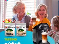 Súťaž o tri balenia kapslí TASSIMO a kávovar TASSIMO Happy