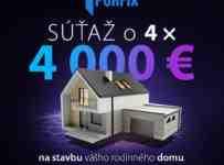 Súťažte s PORFIXom o 4 x 4 000 € na stavbu vášho rodinného domu